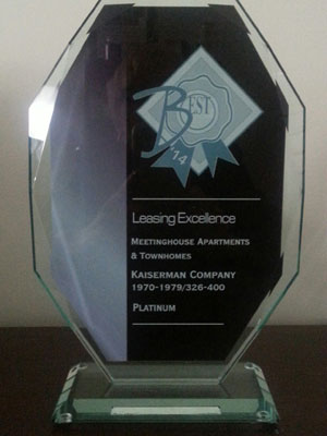 2014 Platinum Award - Leasing Excellence