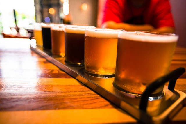 Flight of beer near Boothwyn Pa apartments.