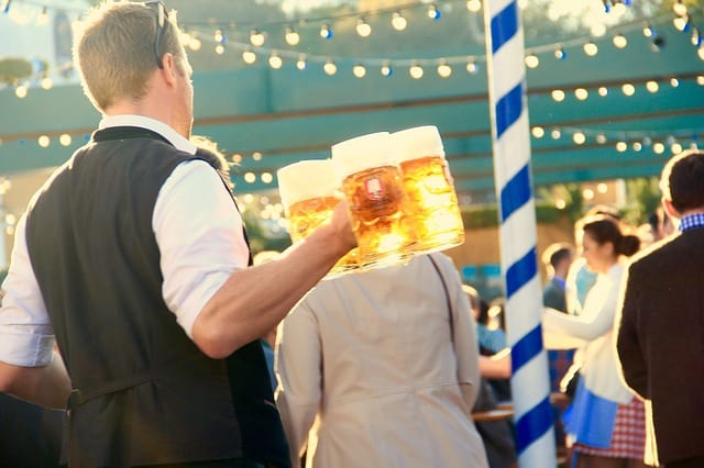 Grab a Brew and a Bite at the Constitution Yards Beer Garden