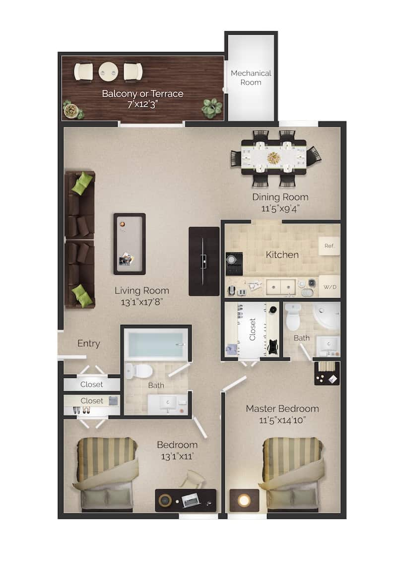 Meetinghouse Apartments Boothwyn | Floor Plans and Rents
