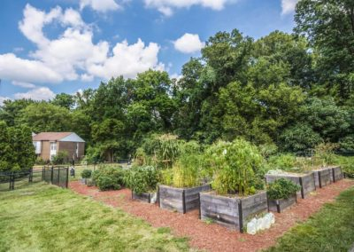 Community garden at Boothwyn, PA apartment complex