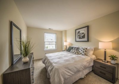 Furnished spacious master bedroom in Boothwyn apartment
